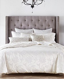 CLOSEOUT! Classic Jacobean Embroidered Full/Queen Duvet Cover, Created for Macy's