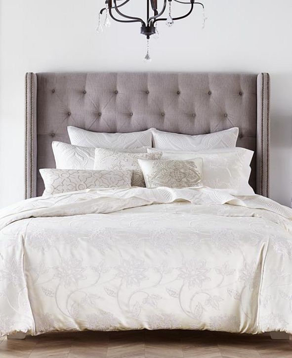 Hotel Collection CLOSEOUT! Classic Jacobean Embroidered King Duvet Cover, Created for Macy's