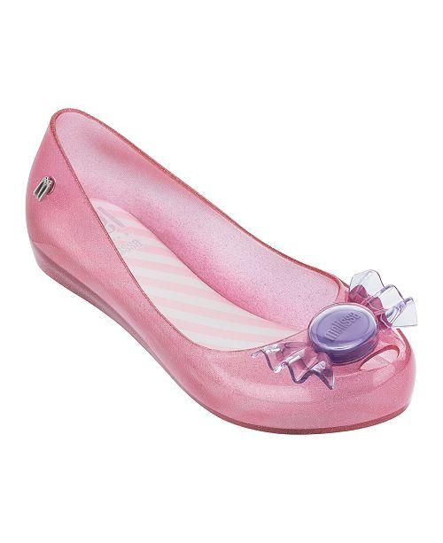 Mini Melissa Little and Big Girls Ultragirl Trick or Treat Flat Shoe
