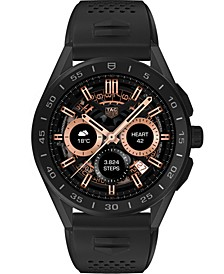 Connected Men's Black Rubber & Titanium Strap Smart Watch 45mm