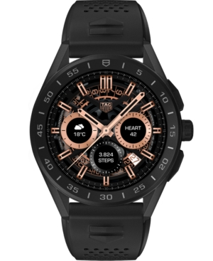 Tag-Heuer-Connected-Mens-Black-Rubber-Titanium-Strap-Smart-Watch-45mm