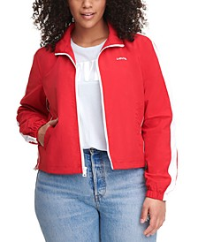 Trendy Plus Size Coaches Track Jacket