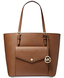 Jet Set Large Leather Pocket Tote