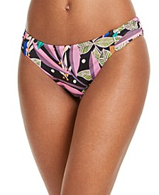 Hidden Jungle Printed Hipster Bikini Bottoms, Created for Macy's