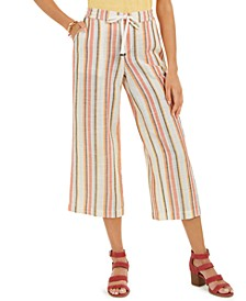 Petite Cotton Striped Cropped Pants, Created for Macy's