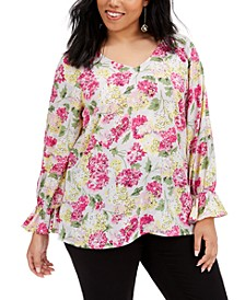 Trendy Plus Size Floral-Print Top, Created for Macy's