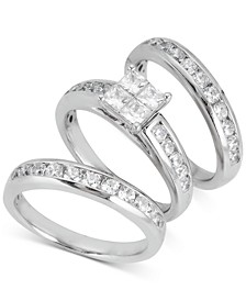 Diamond 3-Pc. Bridal Set (2-1/10 ct. t.w.) in 14k White Gold