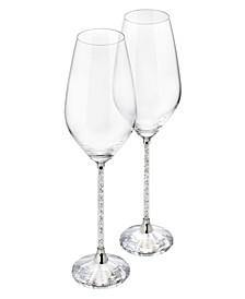 Crystalline White Wine Glasses, Set of 2
