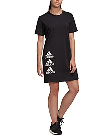 Women's Cotton Stacked-Logo Dress