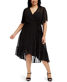 Plus Size High-Low Chiffon Dress