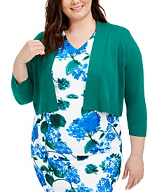 Plus Size Basic Solid Shrug