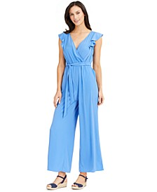 Flutter-Sleeve Cropped Jumpsuit, Created for Macy's