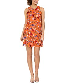 Floral-Print Mini Dress