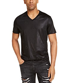 INC Men's Shiny Fire Applique Sobble T-Shirt, Created for Macy's