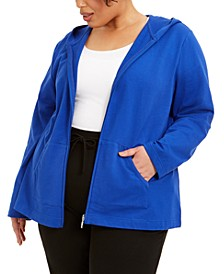 Plus Size Zip-Up Hoodie, Created for Macy's