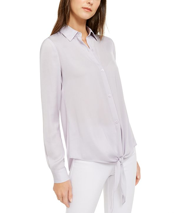 Michael Kors Tie-Front Top, Regular & Petite Sizes