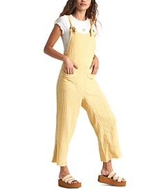Juniors' Run Wild Cotton Cropped Jumpsuit