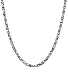 "Cuban Link 18"" Chain Necklace in Sterling Silver"