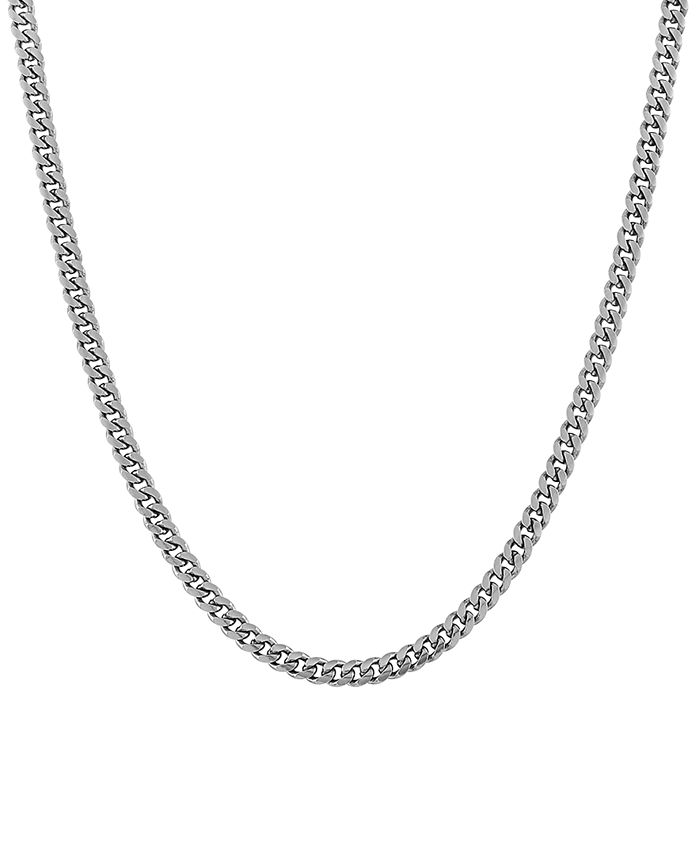 """Giani Bernini - Cuban Link 18"""" Chain Necklace in Sterling Silver"""