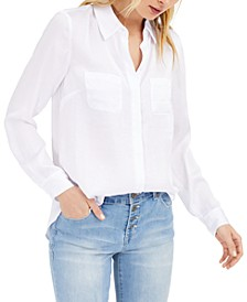 INC Satin Utility Shirt, Created for Macy's