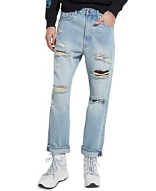 Men's Relaxed-Fit Cropped Jeans
