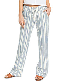Roxy Juniors' Oceanside Striped Pull-On Pants