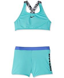 Big Girls 2-Pc. Just Do It Crossback Sport Bikini