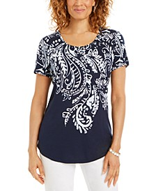 Plus Size Scoop-Neckline Top, Created for Macy's