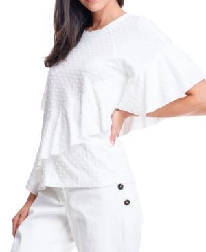 Dot-Texture Sweatshirt