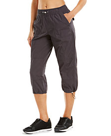 Calvin Klein Performance Printed Smocked Waistband Cargo Pants