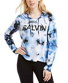Calvin Klein Performance Logo Tie-Dyed Hoodie