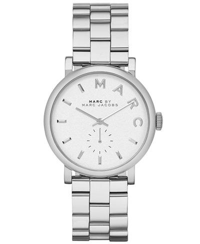 Marc by Marc Jacobs Watch, Women's Baker Stainless Steel Bracelet 37mm MBM3242