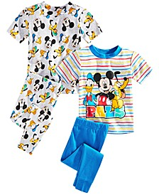 Toddler Boys 4-Pc. Mickey Mouse Pajama Set