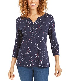 Petite Star-Print Top, Created for Macy's