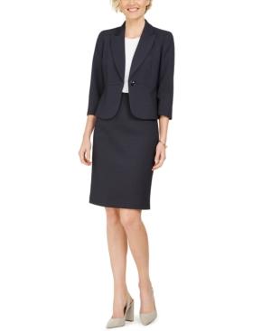 Two-Tone Tweed Skirt Suit