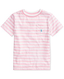 Little Boys Striped Cotton-Blend T-Shirt