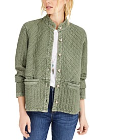 Quilted Button-Front Jacket