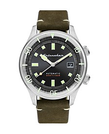Men's Bradner Automatic Green Genuine Leather Strap Watch 42mm