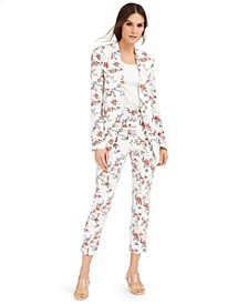 INC Floral Suit Blazer & Slim Ankle Pants, Created for Macy's