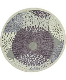 Chimeras CHI04 Gray 4' Round Area Rug