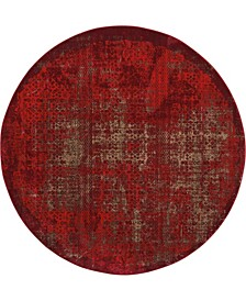 "Fate FAT01 Red 7'10"" Round Area Rug"