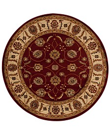 """Asbury ASB09 Red 5'3"""" Round Area Rug"""