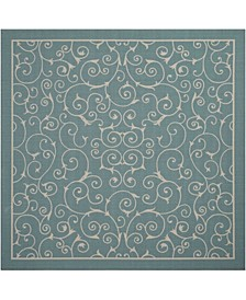 "Backyard BAC019 Mist 8'6"" x 8'6"" Square Area Rug"