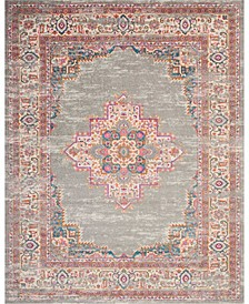 Zeal ZEA03 Gray 8' x 10' Area Rug
