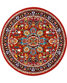 """Riverdale RIV06 Red 5'3"""" Round Area Rug"""