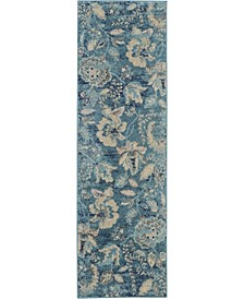 """Peace PEA02 Turquoise 2'3"""" x 7'3"""" Runner Rug"""