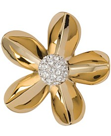 18k Gold Plated Engagement Brooch