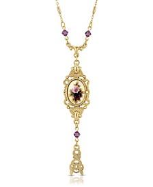 Floral Drop Pendant Necklace
