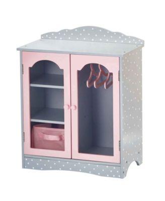 "Olivia's Little World Polka Dots Princess 18"" Doll Fancy Closet"