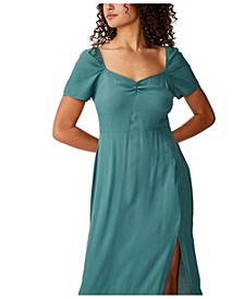 Woven Faye Split Midi Dress